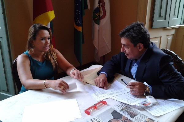 Séfora Mota se reúne com vice-prefeito de Porto Alegre