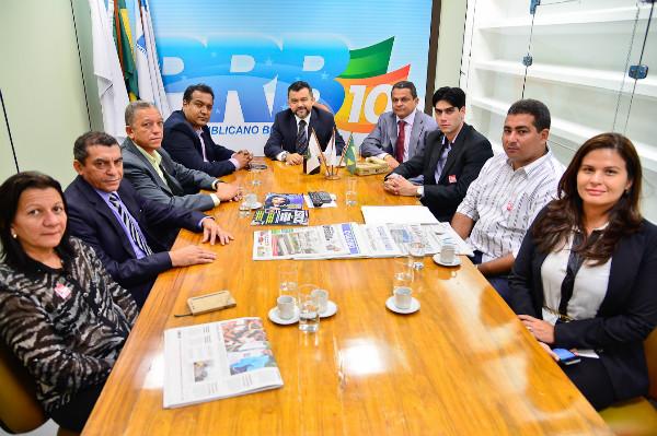 Cleber Verde recebe prefeitos maranhenses na Liderança do PRB