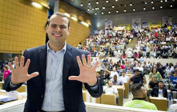 """""""A juventude do PRB não é comprada"""", diz Junqueira no 1º Congresso da Juventude Republicana"""