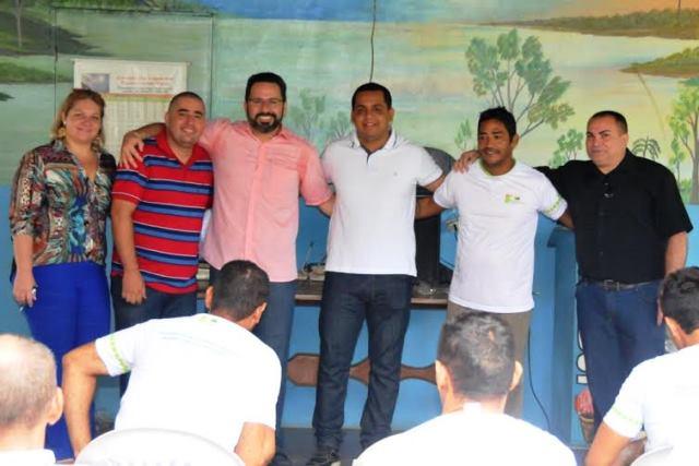 Em Rio Branco, Alan Rick participa de aula inaugural no Centro de Recuperação Reconstruindo Vidas