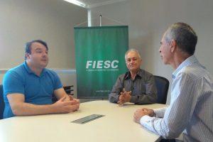 Aldinei Potelecki visita Federação das Indústrias do Estado de Santa Catarina