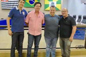Alexandre Dauage recebe a visita do deputado Wellington Moura em Ourinhos (SP)