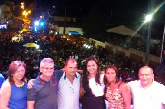 Deputada Ana do Gás prestigia aniversário de Lago dos Rodrigues