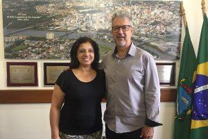 Armando Motta recebe visita da vice-prefeita de São Leopoldo