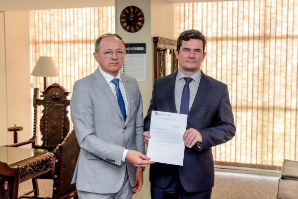 Benes Leocádio se reúne com ministro Sérgio Moro