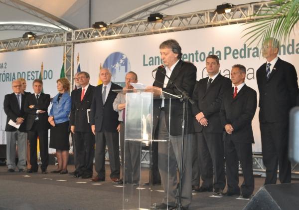 Carlos Gomes comemora ampliação da Celulose Riograndense