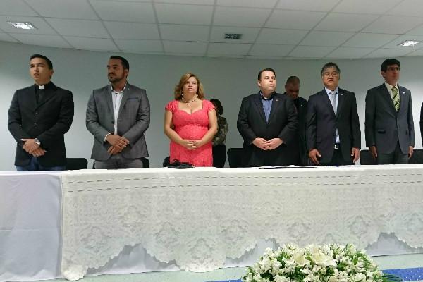 A solenidade contou a participação do deputado distrital Julio César e de outras lideranças políticas do DF