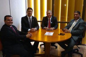 PRB RJ: pré-candidato a prefeito e a vereador se encontram com Roberto Sales em Brasília