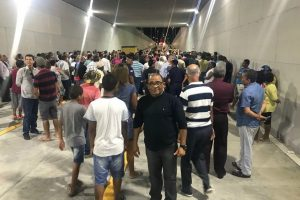 Eli Ribeiro participa da inauguração do 2º túnel do complexo BRT em Feira de Santana