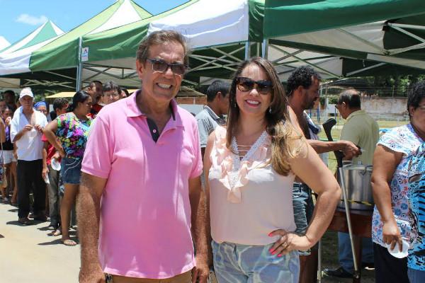 Eliana Morais com o vice-prefeito Ozias Andrade