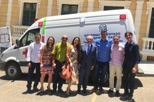 Erick Musso garante ambulância para o município de Pedro Canário