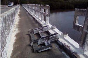 Erick Musso pede manutenção de ponte em Aracruz