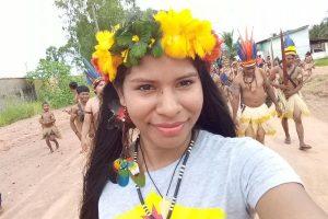 Érika Negarottê comemora Dia do índio com indígenas de Comodoro (MT)