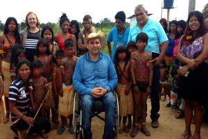 Érika Negarottê comemora Dia do índio com comunidades indígenas de Comodoro (MT)