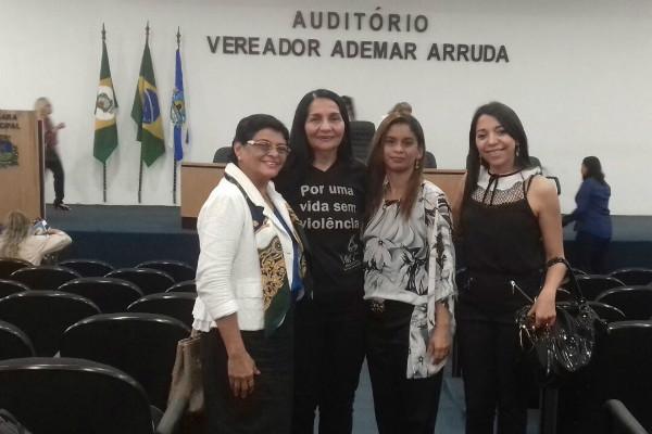 Fátima Souza participa de audiência em comemoração aos 10 anos da Lei Maria da Penha