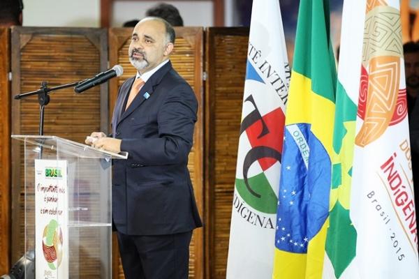 George Hilton prestigia lançamento dos Jogos Mundiais Indígenas em Brasília