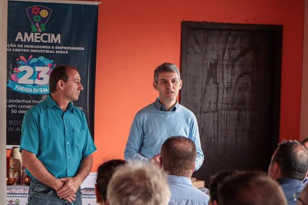 Gilson Santos se reúne com associação de moradores e empresários de Mauá
