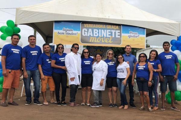 Gabinete da vereadora Graça garante serviços à população de Sapé (PB)