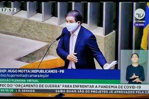 """""""Queremos aprovação imediata da PEC do Orçamento de Guerra"""", cobra Hugo Motta"""