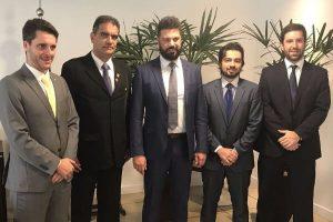 Em Brasília, Ilton Jorge busca investimentos para o esporte de Guarulhos (SP)