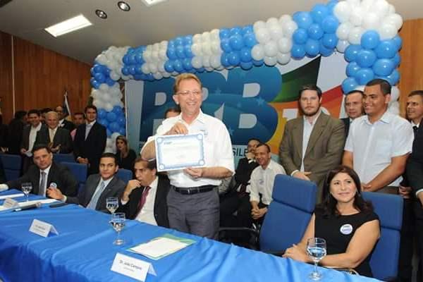 Eduardo Lopes empossa João Campos no comando do PRB Goiás e Marcos Pereira faz convite a Perillo