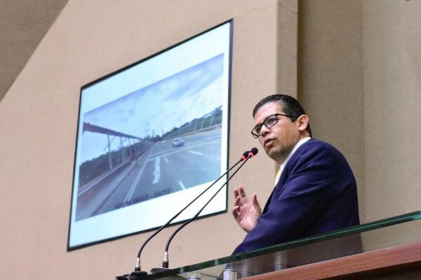 João Luiz propõe parceria para a instalação de proteção na ponte Rio Negro