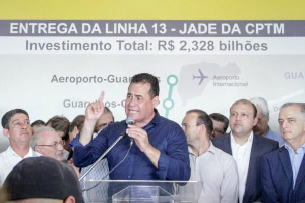 Jorge Wilson participa da entrega da Linha 13 - Jade da CPTM