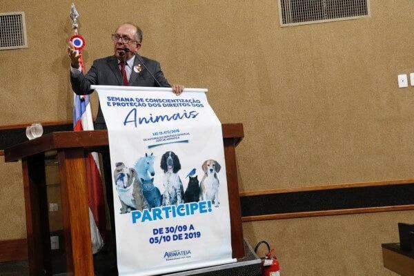 Arimateia abre Semana de Conscientização e Proteção dos Direitos dos Animais