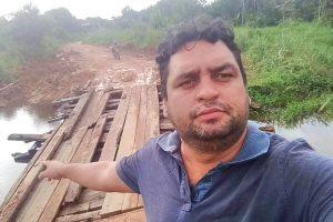 Vereador Junior Rodrigues pede urgência para recuperação de ponte em São Luiz (RR)