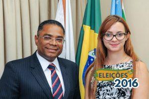 Em Brasília, candidata a vereadora Lidya visita liderança do PRB na Câmara