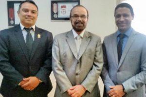 Visita do superintendente regional substituto da PRF Minas Gerais, Bruno Schneider Raslan, e do policial rodoviário federal Fábio Henrique Jardim