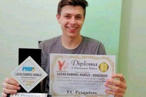 População escolhe Lucas Ramilo como vereador destaque de Faxinal dos Guedes