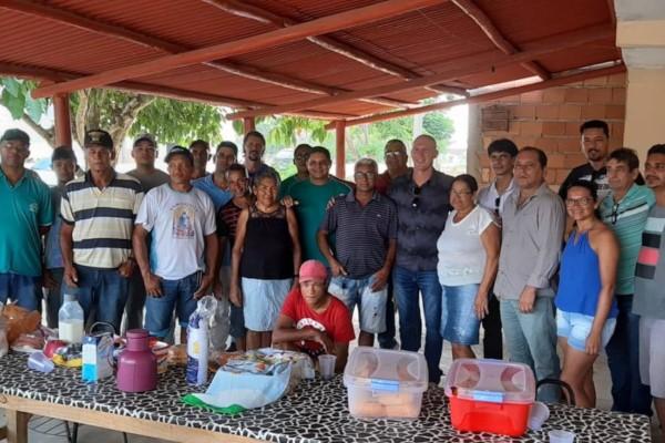 Luciano Francisqueto debate melhorias para comunidade do bairro Ouro Verde em Itabela