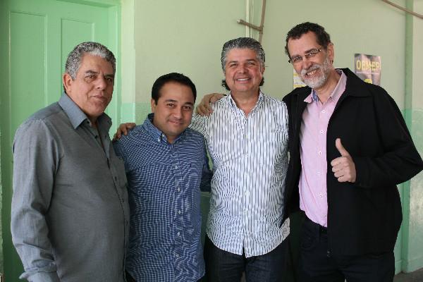 Na foto, da esquerda para direita, Zé Maria, Danilo, Fabiany e Luizinho
