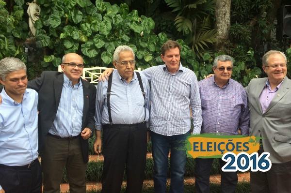 Crivella almoça com presidentes dos quatro grandes clubes do Rio