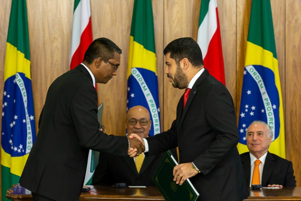 Brasil e Suriname assinam acordo para promoção de investimentos recíprocos