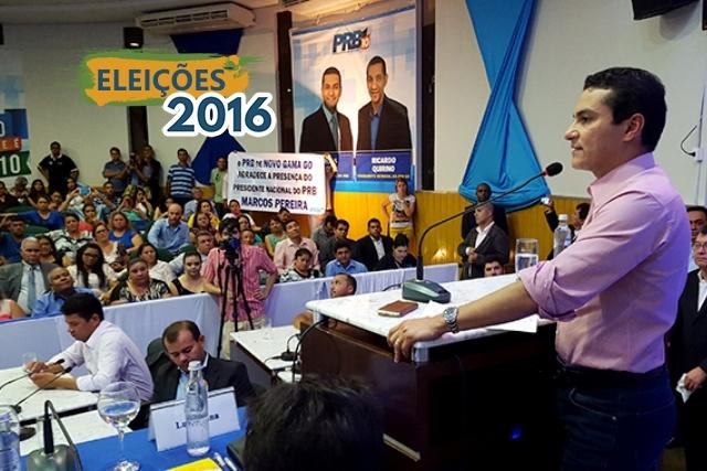 Em Luziânia (GO), Marcos Pereira reafirma distanciamento do PRB do governo Dilma