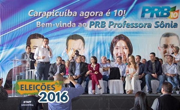 Presidente do PRB lança Professora Sônia como pré-candidata a prefeita de Carapicuíba (SP)