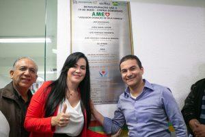 Marcos Pereira inaugura UBS em Araçariguama