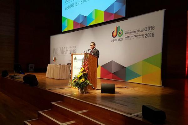 Marcos Pereira participa em Weimar do 34º Encontro Econômico Brasil-Alemanha