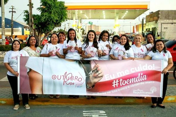Outubro Rosa: Mulheres Republicanas de Fortaleza promovem ação educativa
