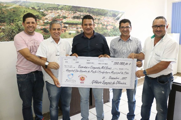 Nêgo Sampaio repassa R$ 350 mil para Hospital São Vicente de Paulo