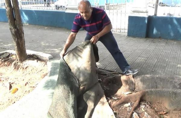 Nunes Coelho denuncia descaso com praça histórica em Taubaté