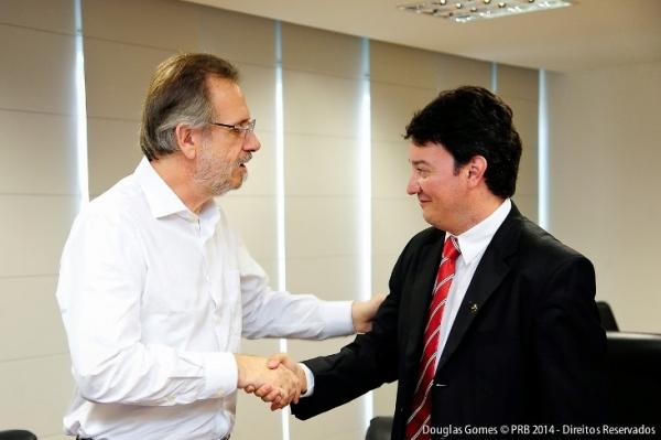 O ministro Miguel Rosseto recebeu o delegado Ricardo Sapi no MDA