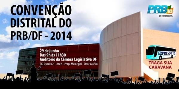 PRB Distrito Federal realiza convenção no próximo domingo