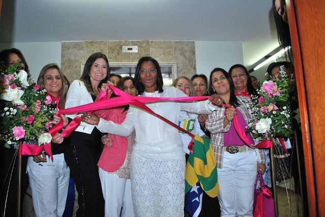 A nova sede foi inaugurada pela coordenadora nacional do PRB Mulher, a deputada federal Rosangela Gomes