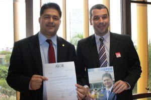 Sales recebe Igor Sardinha em Brasília para tratar sobre emendas para Macaé (RJ)