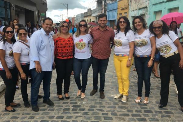 Samuel Andrade participa de caminhada em comemoração ao Dia Internacional da Mulher