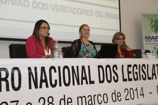 Séfora é palestrante no Encontro Nacional dos Vereadores