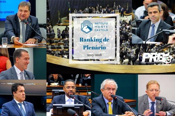 Sete deputados do PRB estão entre os 30 primeiros colocados em Ranking do Instituto Monte Castelo